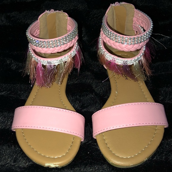 Nanette Lepore Other - Baby Pink Leather Sandal! Kids Size 11c!